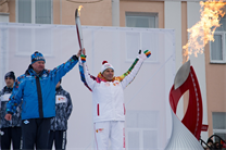 Sochi 2014 Olympic Torch Relay in Barabinsk and Kuibyshev
