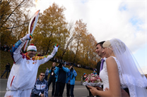 The Olympic Flame in Rzhev