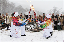 Sochi 2014 Olympic Torch Relay in the Altai republic