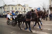 The Olympic flame had a trip in coach in Kostroma