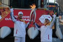 Torch Relay in the krai of Krasnodar