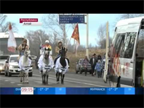 Sochi 2014 Olympic Torch Relay in the Altai republic and Altai region
